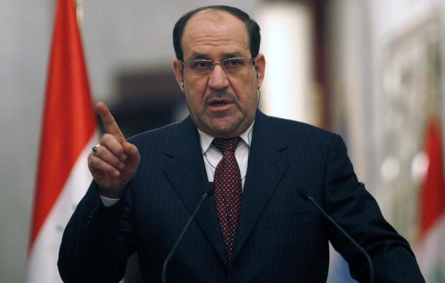 Le Premier ministre irakien Nouri al-Maliki à Bagdad, le 13 janvier 2014 [Ahmed Saad / Pool/AFP/Archives]