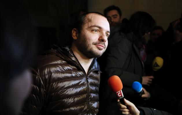 François Lambert, le neveu de Vincent Lambert, répond aux journalistes, le 6 février 2014 au Conseil d'Etat à Paris  [Thomas Samson / AFP/Archives]