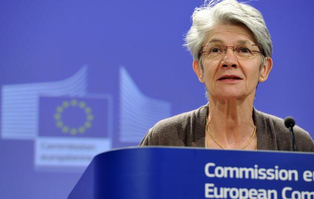 La numéro un de la Confédération européenne des syndicats (CES) Bernadette Ségol, le 2 mai 2013 à Bruxelles [Georges Gobet / AFP/Archives]