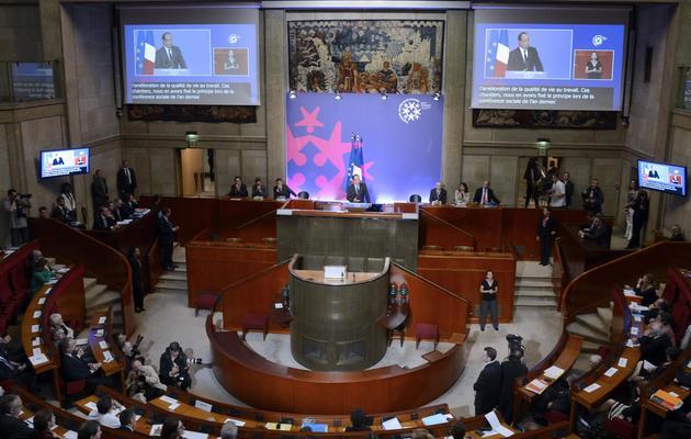 Francois Hollande, le 20 juin 2013, au lancement de la conférence sociale à Paris [BERTRAND GUAY / AFP Photo]