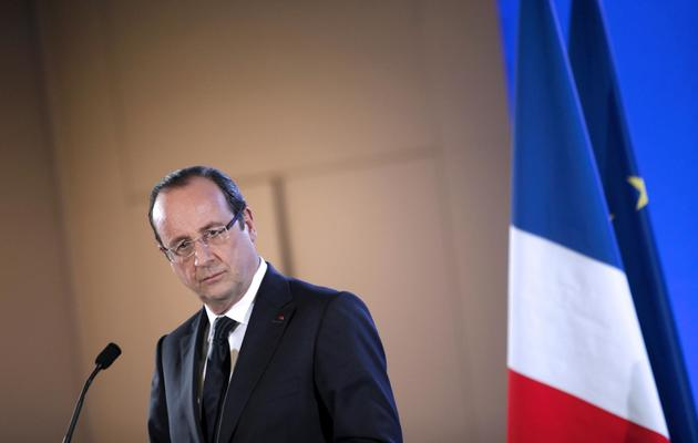 François Hollande lors d'une conférence de presse au Salon de l'Agriculture, à Paris,le 23 février 2013 [Thibault Camus / Pool/AFP/Archives]