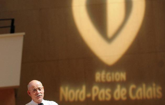 """Jeremy Rifkin présente son projet pour une  """"Troisième révolution industrielle"""" , le 25 octobre 2013 à Lille, dans le nord de la France [François Lo Presti / AFP]"""