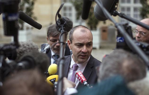 Le numéro un de la CFDT, Laurent Berger, le 25 novembre 2013, dans la cour de Matignon, à Paris [Fred Dufour / AFP/Archives]