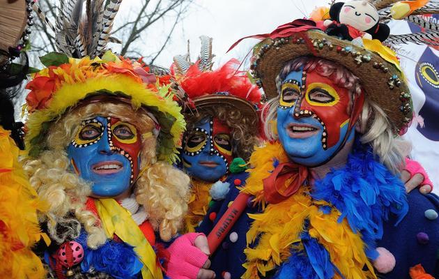 Des participants au Carnaval de Dunkerque le 2 mars 2014 [Philippe Huguen / AFP]