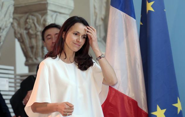 La ministre de la Culture Aurélie Filippetti, le 4 avril 2014 à Paris [Jacques Demarthon / AFP/Archives]
