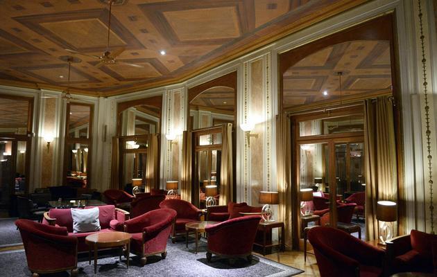 Salon de l'hôtel Lutetia à Paris le 10 avril 2014 [Franck Fife / AFP]