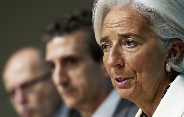La directrice du FMI, Christine Lagarde, photographiée le 14 juin 2013 à Washington [PAUL J. RICHARDS / AFP Photo/Archives]