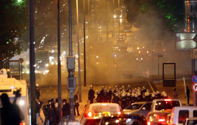 Manifestation en Turquie après le décès d'un jeune victime des violences, en marge des manifestations anti-gouvernementales en juin, le 10 septembre 2013 à Ankara [Adem Altan / AFP]