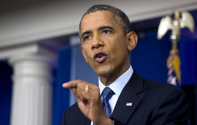 Le président Barack Obama, le 8 octobre 2013 à La Maison Blanche, à Washington [Saul Loeb / AFP]