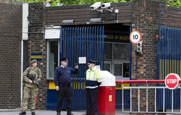 Le  baraquement militaire de Woolwich, le 23 mai 2013 à Londres [Justin Tallis / AFP]