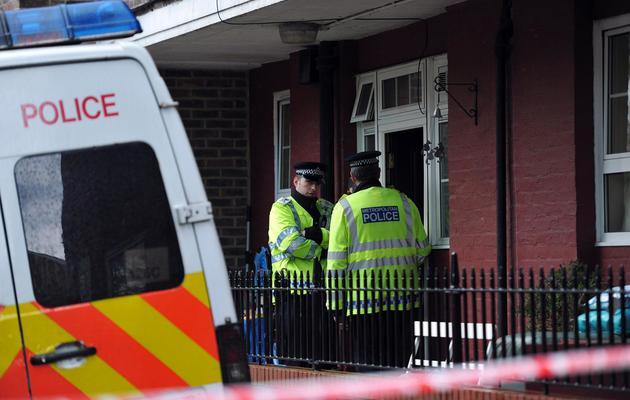 Des policiers britanniques, à Greenwich, le 23 mai 2013 [Carl Court / AFP]