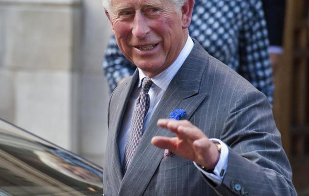 Le prince Charles sort de l'hôpital où se trouve son père, le prince Philip, le 14 juin 2013 à Londres [Will Oliver / AFP]