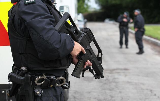 Patrouille policière le 15 juin 2013 à Enniskillen [Peter Muhly / AFP]