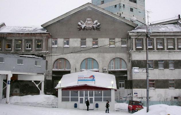 Photo fournie le 11 février 2013 par le ministère russe des situations d'urgence de la mine Vorkoutinskaïa dans le Grand Nord russe où s'est produite une explosion [ / Ministère russe des situations d'urgence/AFP/Archives]