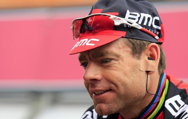L'Australien Cadel Evans avant la 13e étape du Giro le 17 mai 2013 à Busseto [Luk Benies / AFP]