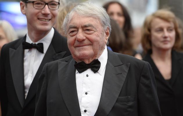 """Le réalisateur Claude Lanzmann vient présenter son documentaire """"Le dernier des Injustes"""", à Cannes, le 19 mai 2013 [Anne-Christine Poujoulat / AFP]"""