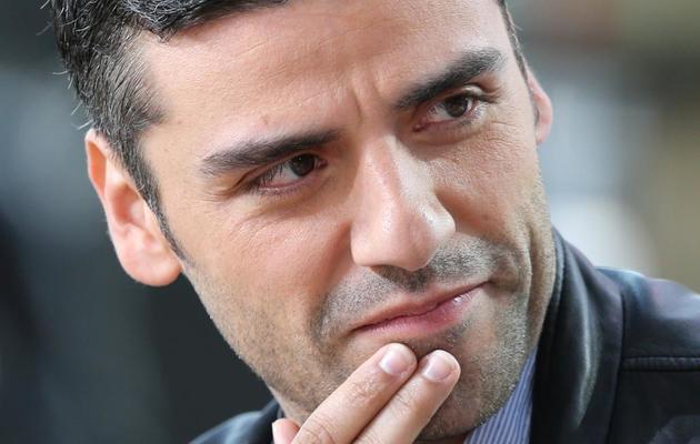L'acteur américain Oscar Isaac participe, le 20 mai 2013, au Grand Journal de Canal Plus, à Cannes [Loic Venance / AFP]