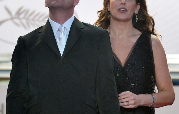 Steven Soderbergh et son épouse Jules Asner, le 21 mai 2013 à Cannes [Alberto Pizzoli / AFP]
