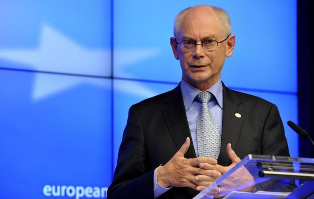Le président du Conseil européen, Herman Van Rompuy, le 22 mai 2013 à Bruxelles [Georges Gobet / AFP]