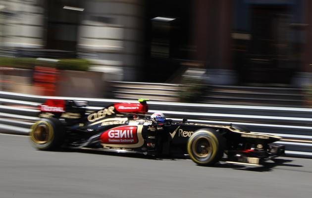 Le Français Romain Grosjean lors des essais libres du GP de Monaco le 23 mai 2013 à Monaco [Jean Christophe Magnenet / AFP]