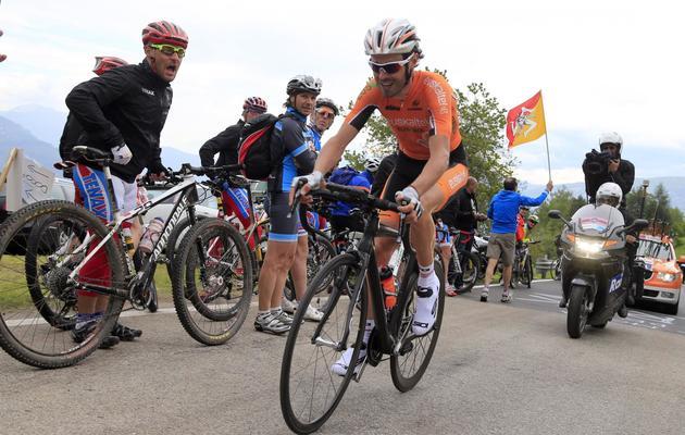 L'Espagnol Samuel Sanchez lors du contre la montre de la 18e étape du Tour d'Italie le 23 mai 2013 à Polsa [Luk Benies / AFP]