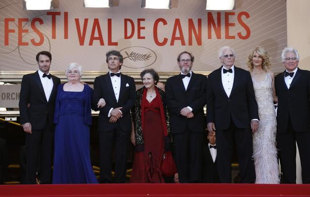 "L'équipe du film ""Nebraska"", le 23 mai 2013 au 66e Festival de Cannes [Valery Hache / AFP]"