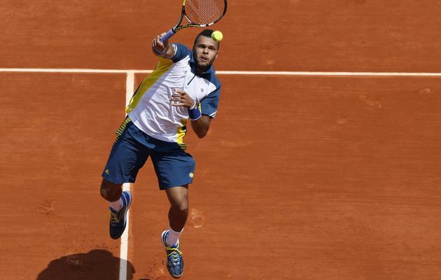 Jo-Wilfried Tsonga au premier tour de Roland Garros le 27 mai 2013 [Patrick Kovarik / AFP]