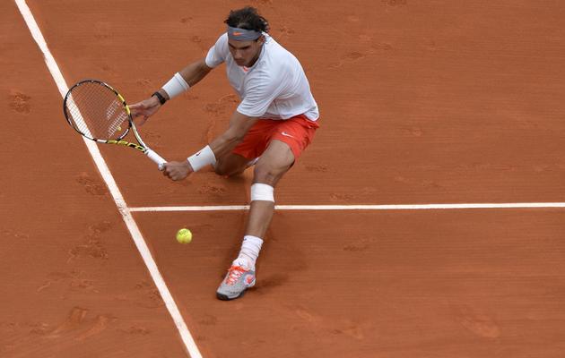 L'Espagnol Rafael Nadal lors du premier tour de Roland Garros le 27 mai 2013 [Miguel Medina / AFP]