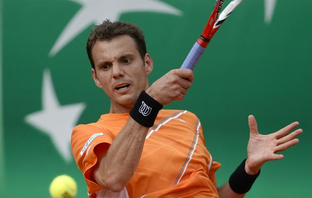 Paul-Henri Mathieu lors du 1er tour de Roladn-Garros face au Finlandais Jarkko Nieminen, le 27 mai 2013, à Paris [Martin Bureau / AFP]