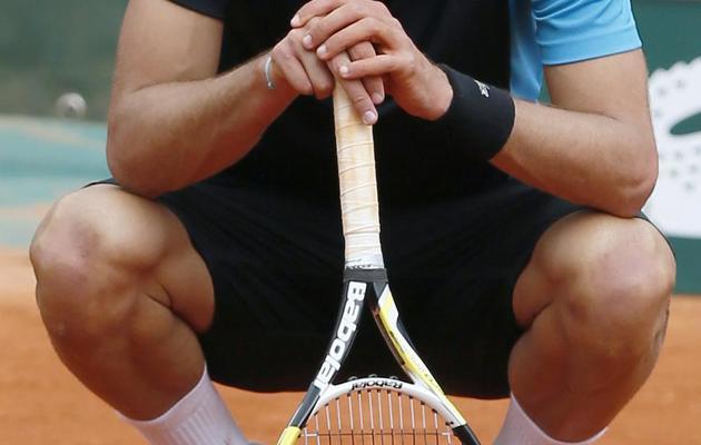 Le Français Benoît Paire après sa défaite face au Japonais Nishikori Kei le 1er juin 2013 à Roland Garros à Paris [Patrick Kovarik / AFP]