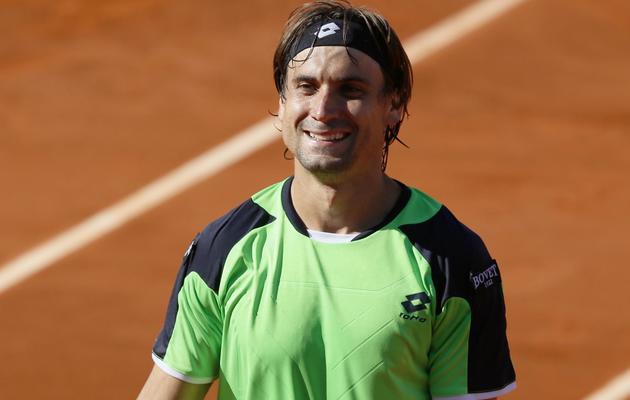 L'Espagnol David Ferrer après sa victoire contre Tommy Robredo en quart de finale de Roland-Garros à Paris le 4 juin 2013 [Patrick Kovarik / AFP]