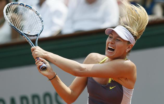 La Russe Maria Sharapova lors de la finale de Roland-Garros contre Serena Williams, le 8 juin 2013 [Patrick Kovarik / AFP]