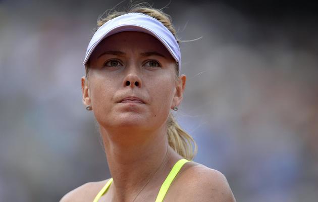 Maria Sharapova pendant la finale du simple dames de Roland-Garros perdue contre Serena Williams le 8 juin 2013 à Paris [Miguel Medina / AFP]