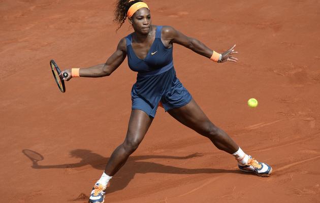 L'Américaine Serena Williams, lors de sa finale face à la Russe Maria Sharapova, à Roland-Garros, le 8 juin 2013 [Martin Bureau / AFP]