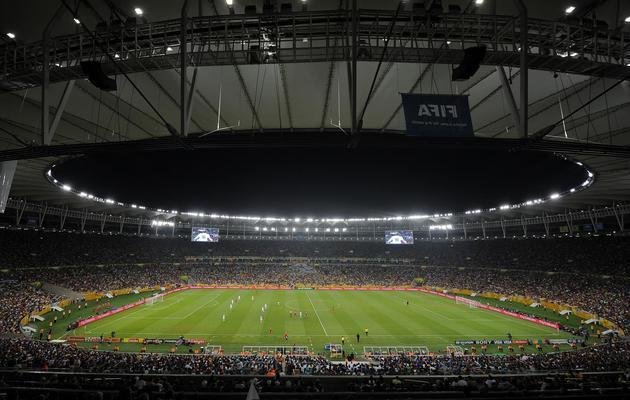 Vue générale du stade Maracana le 16 juin 2013 à Rio pendant le match opposant le Mexique à l'Italie dans la Coupe des Confédérations [Nelson Almeida / AFP]