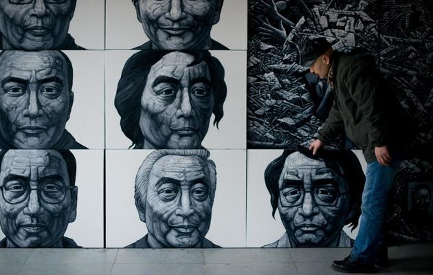 L'artiste Liu Yi, le 21 février 2013 dans son atelier dans les environs de Pékin [Ed Jones / AFP]