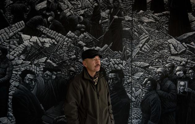 L'artiste Liu Yi, le 21 février 2013 dans son atelier près de Pékin [Ed Jones / AFP]