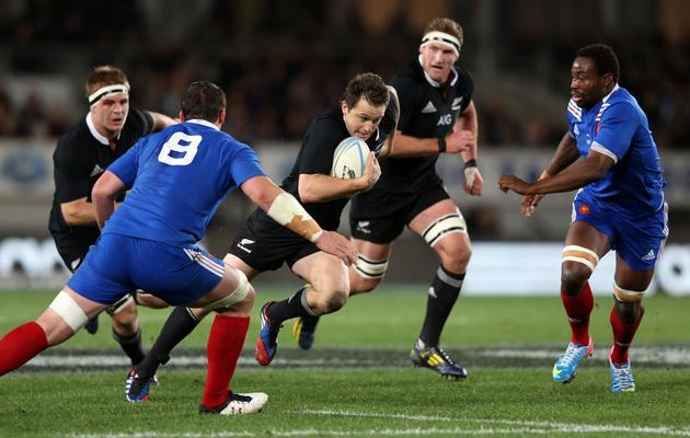 Ben Smith des All Blacks (au centre) lors du match contre la France le 8 juin 2013 à Auckland [Michael Bradley / AFP]
