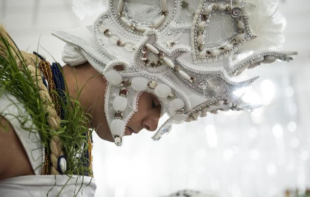 Un disciple du Candomblé, une religion africano-brésilienne, lors d'une cérémonie à Sao Paulo, au Brésil, en avril 2013 [Yasuyoshi Chiba / AFP]