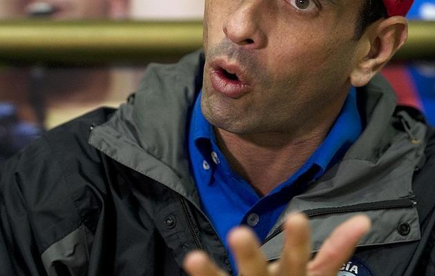 Henrique Capriles, le 15 mai 2013, à Caracas [Juan Barreto / AFP]