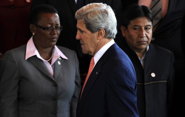 Le secrétaire d'Etat américain John Kerry, le 5 juin 2013 au Guatemala [Johan Ordonez / AFP/Archives]