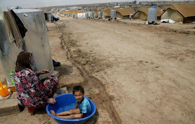 Un enfant dans le camp de réfugiés syriens de Domiz, en Irak, le 17 juillet 2012 [Safin Hamed / AFP/Archives]