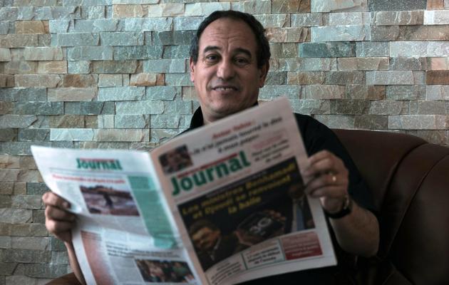 Hichem Aboud, propriétaire d'El-Watan et El Khabar, le 19 mai 2013 à Alger [Farouk Batiche / AFP]