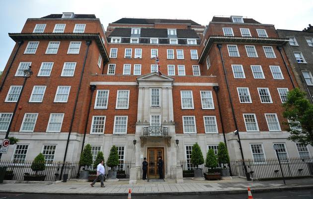 La London Clinic, en plein coeur de la capitale, là où a été hospitalisé le prince Philip, le 7 juin 2013 [Ben Stansall / AFP]