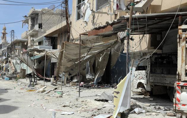 Un quartier en ruines le 7 juin 2013 à Qousseir [Str / AFP]