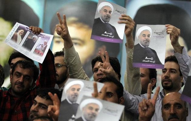 Des partisans Hassan Rohani le 16 juin 2013 à Téhéran [Atta Kenare / AFP]