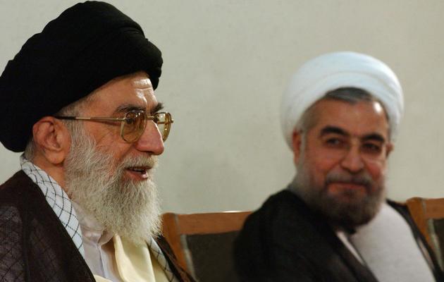 Ali Khamenei et Hassan Rohani le 16 juin 2013 à Téhéran [ / AFP]