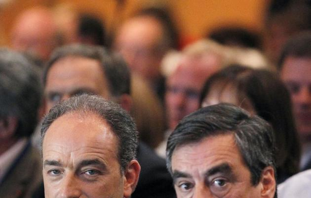 Jean-François Copé et François Fillon le 26 mai 2012 à Paris [Thomas Samson / AFP/Archives]
