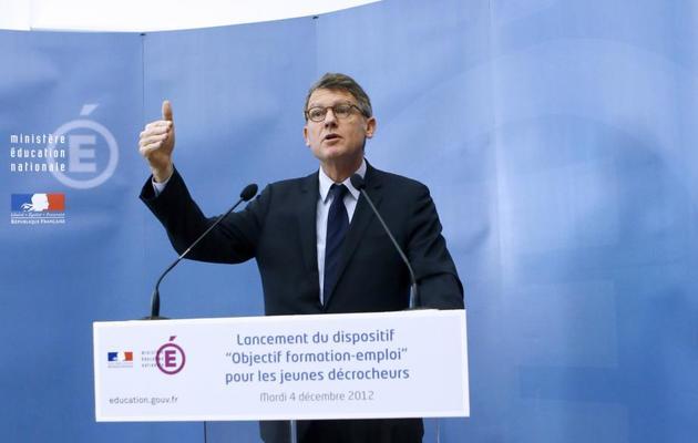 Vincent Peillon le 4 décembre 2012  à l'Ecole nationale supérieure de chimie de Paris. [Patrick Kovarik / AFP]
