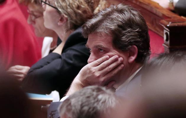 Le ministre du Redressement productif Arnaud Montebourg, à l'Assemblée nationale, le 18 décembre 2012 [Jacques Demarthon / AFP]